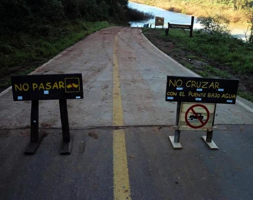 Cerraron el acceso al Parque Provincial Moconá por desborde delarroyo