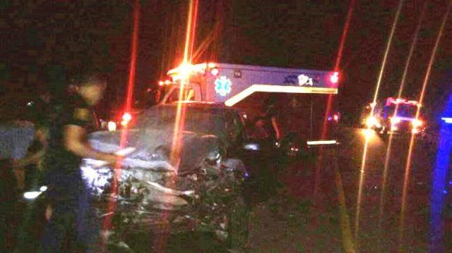 Tres vehículos chocaron en la 103 cerca de Mártires, uno terminó en elbarranco