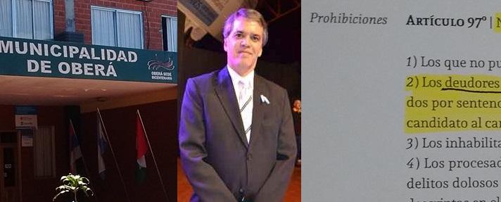 Chaves estaba imposibilitado de ser concejal por adeudar $6 mil en tasas; el municipio se negó a darinformación