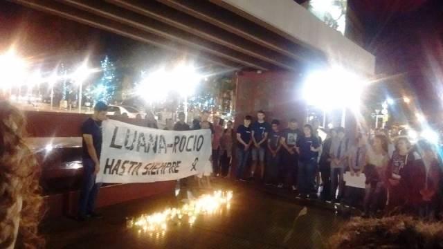 Alumnos de la EPET marcharon en memoria de Luana y Rocío junto a losfamiliares