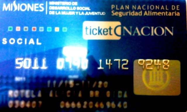 Los beneficiarios del programa Ticket Nación, debenpresentarse