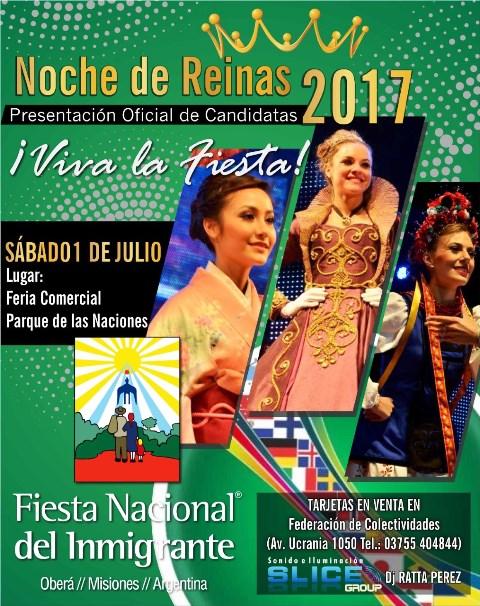 Noche Presentación de Reinas candidatas en el Salón Comercial del Parque de lasNaciones
