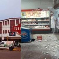 Se desmoronó parte del techo de un supermercado y dejó un lesionado internado