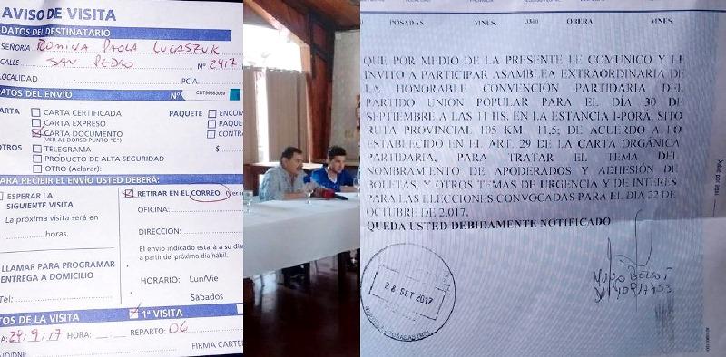 Dirigentes de Unión Popular denuncian aprietes para aprobar la colectora deVelázquez