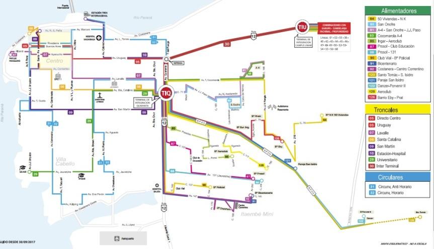 transporte integrado colectivo posadas