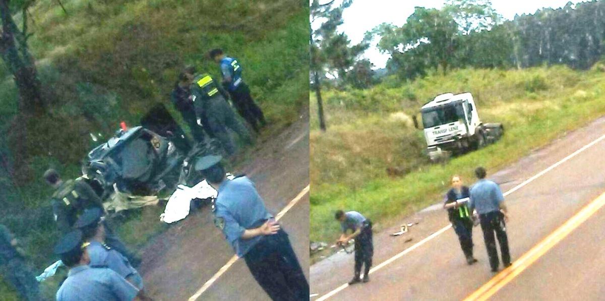 Suboficial falleció tras chocar frontalmente con un camión en la ruta 14