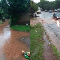 """""""3ra inundación del año ¿Hasta cuando?"""" quejas de vecinos en Villa Torneus"""