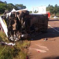 Dos víctimas fatales en un choque frontal sobre Ruta 14