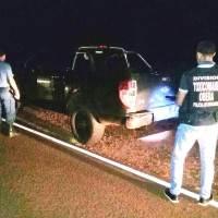 Persecución narco en la ruta 6 terminó con el secuestró una camioneta adulterada; los ocupantes escaparon en el monte