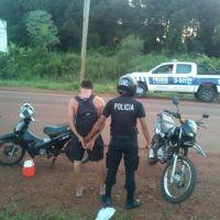 Circulaba por la ruta con una moto robada a una joven en septiembre