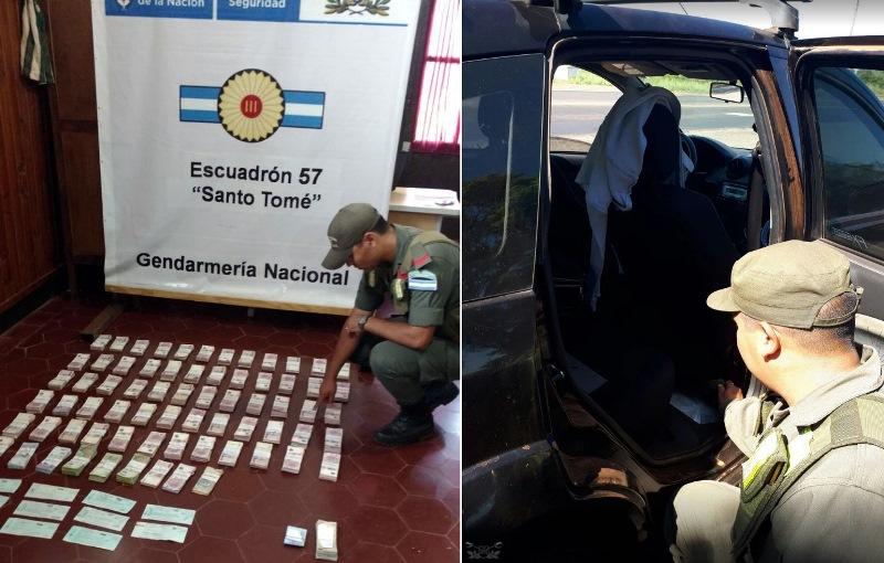 Decomisan $ 1.532.864 ocultos en un auto que salió de Oberá haciaParaná