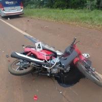 Dos choques en la ruta 14 involucraron dos motos, una vaca, un colectivo y una camioneta