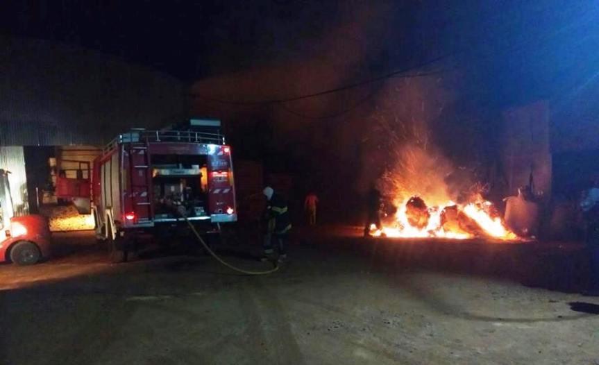Investigan el incendio en unaserradero