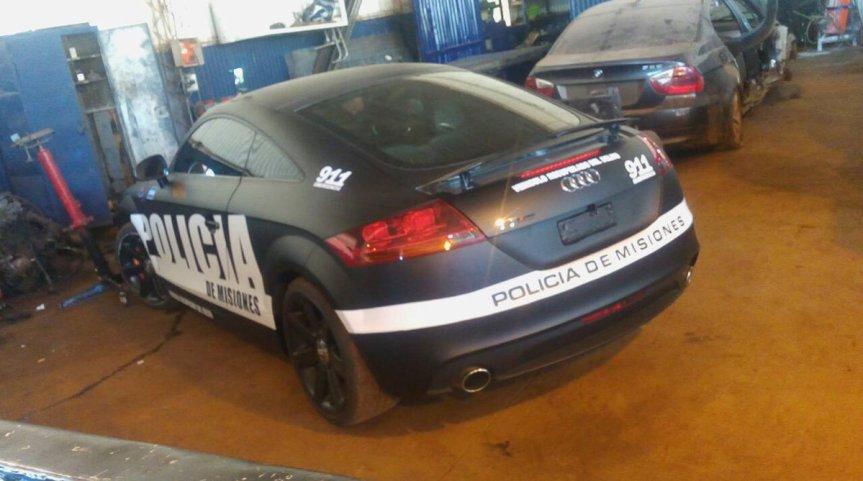"""La Policía de Misiones incorpora un Audi TT """"Recuperado del delito ..."""