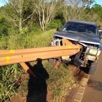 Camioneta se incrustró en el guardarraíl de la ruta 14 altura puente Yazá
