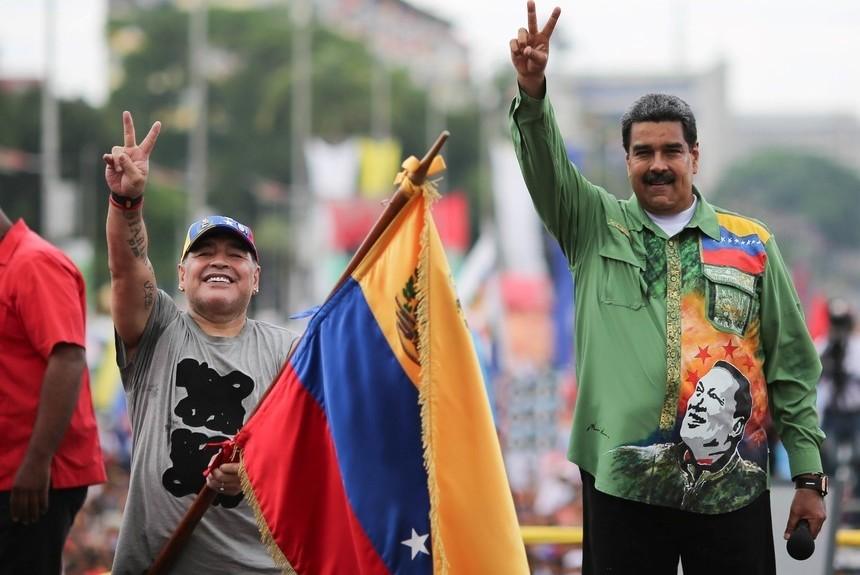 El kirchnerismo, la CTA y Maradona salieron a respaldar aMaduro