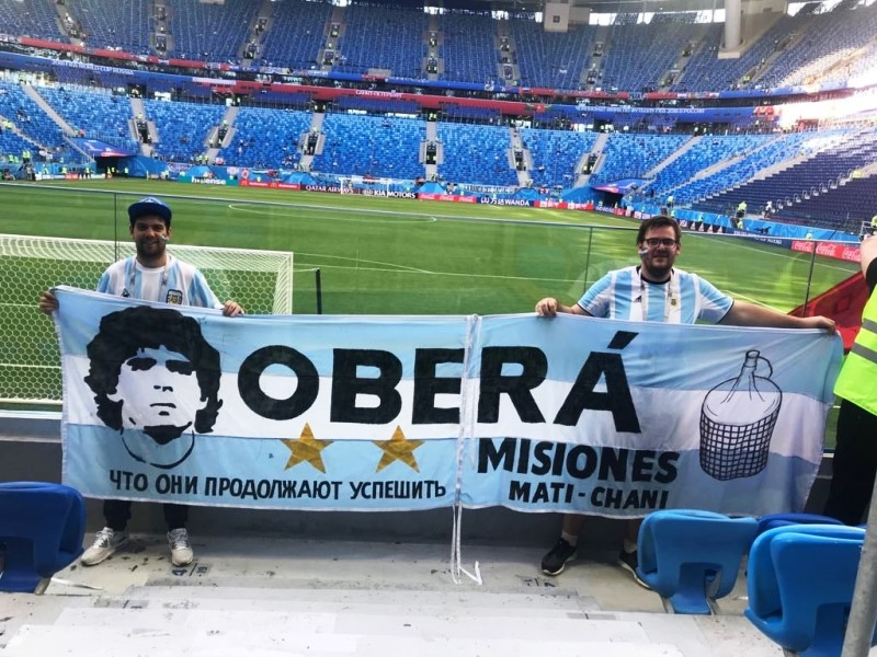 Argentina vs Nigeria: Oberá presente en el estadio de SanPetersburgo