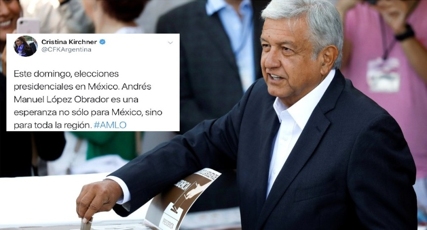 """""""Una esperanza para la región"""": Cristina le dio su apoyo al candidato que se convertiría en el primer presidente de izquierda enMéxico"""