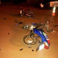 Colisión entre motocicletas dejó dos jóvenes hospitalizados