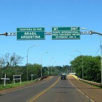 Un hombre se arrojó del puente en la frontera con Brasil