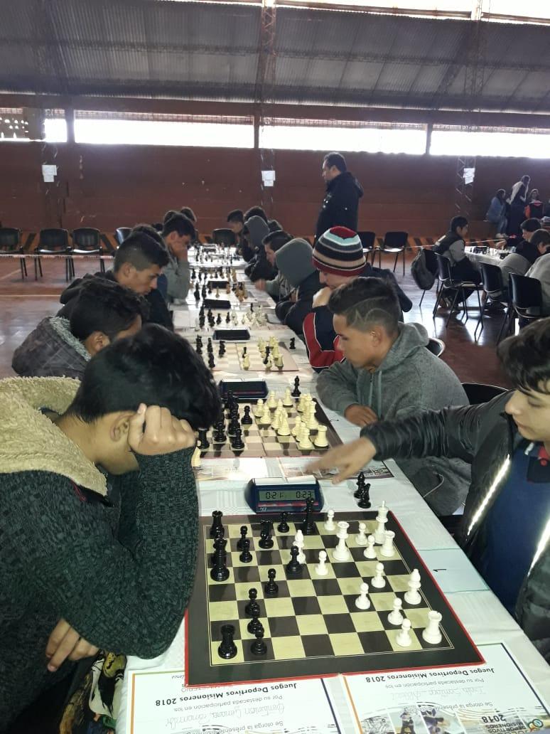 Comienzan las finales de Ajedrez de los Juegos Deportivos Misioneros2018