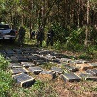 Detienen a dos personas y decomisan 7433 kilos de marihuana en tres allanamientos