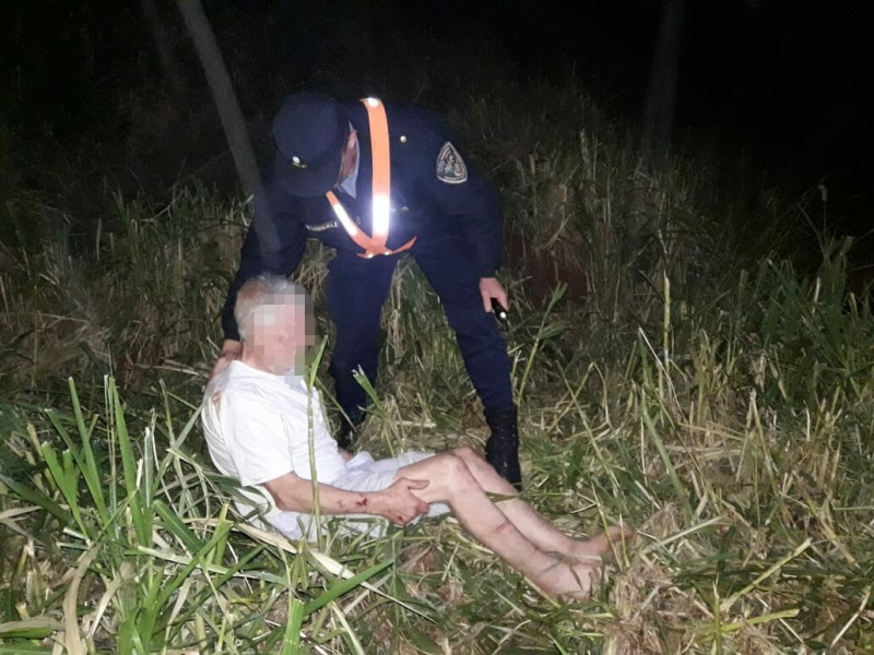 Tras una intensa búsqueda, hallaron a un hombre que se fue de ungeriátrico