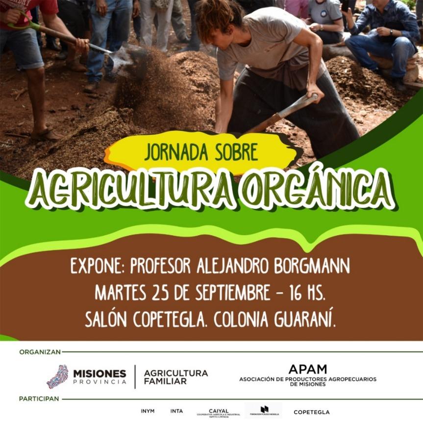 Charla abierta sobre Agricultura Orgánica en Copetegla elmartes