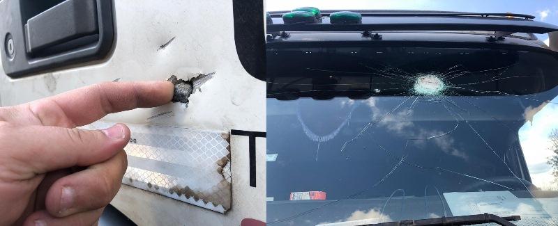 Camión de combustible fue atacado con piedras en laruta