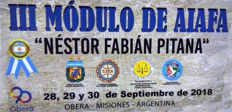 3° Módulo de la Asociación de Instructores de Árbitros del Fútbol Argentino (AIAFA) enOberá