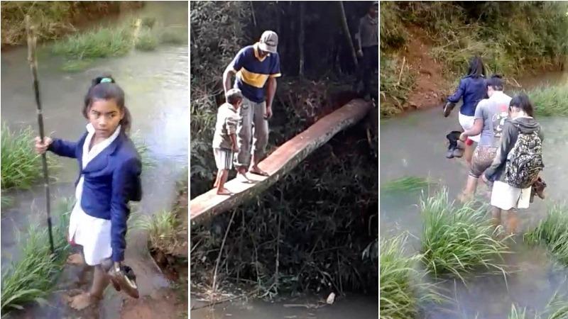 Iniciaron campaña nacional para que el gobierno misionero construya un puente que permita a los niños ir a laescuela