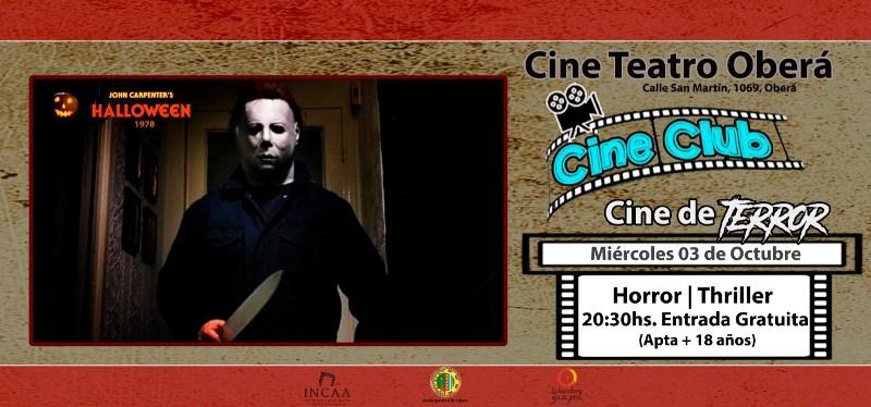 """Cine Club: """"Hallowen"""" en el EspacioINCAA"""
