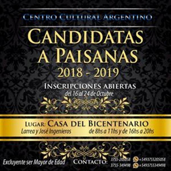El Centro Cultural Argentino busca a sus nuevasPaisanas