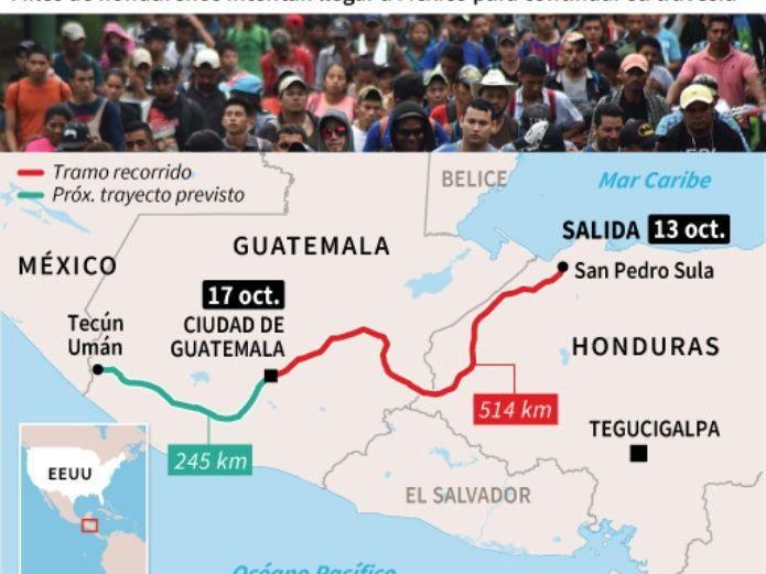 3.000 hondureños en caravana huyen de su país rumbo aEE.UU