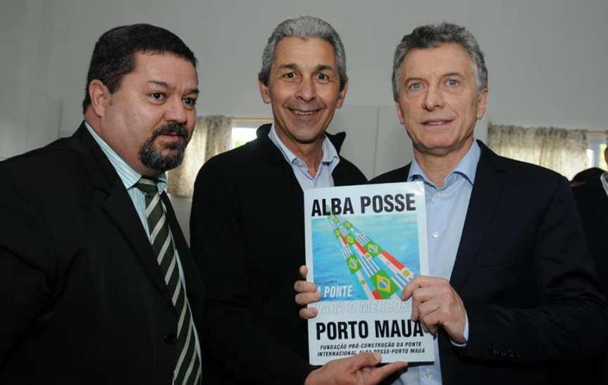 Macri preguntó por qué está parado el proyecto de puente Alba Posse-Mauá que tiene inversoresesperando