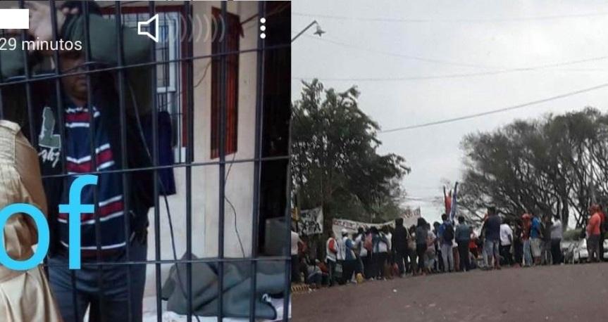Hugo Silva en huelga de hambre para que lo liberen, acamparán frente a la comisaría enprotesta