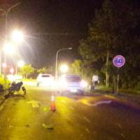 Tres hospitalizados en dos choques de motos: uno en la autovía y otro en Picada Vieja