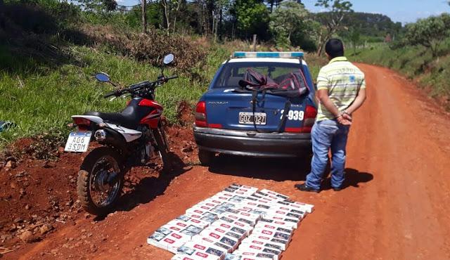 Llevaba cigarrillos paraguayos por 25 mil pesos decontrabando