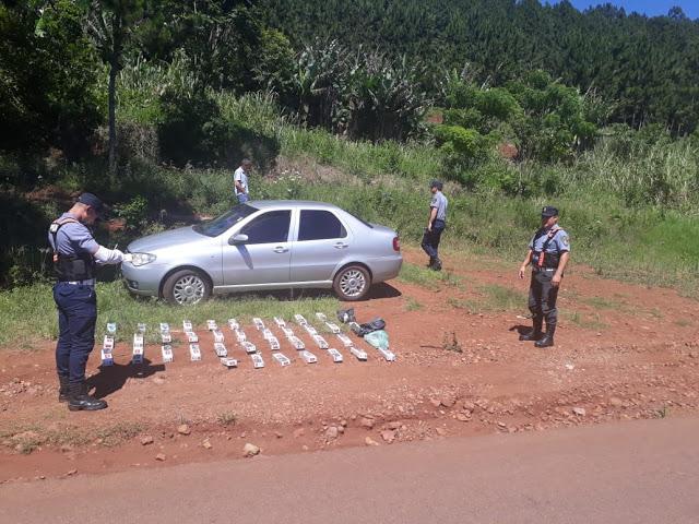 Detienen al vehículo con 20 mil pesos en cajas de cigarrillos de origenparaguayo