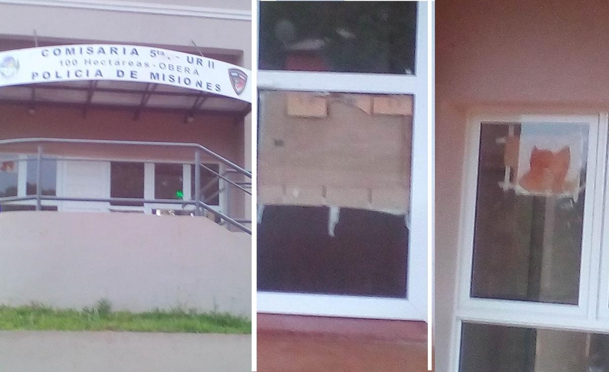 Rompieron vidrios en la nueva comisaría Quinta que hace meses espera ser inaugurada