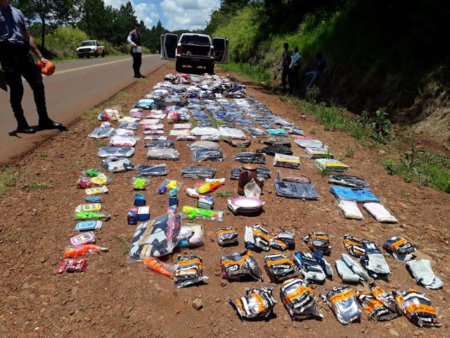 Secuestran 150 mil pesos en mercadería ilegal llevada en unacamioneta