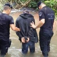 """Capturaron a """"Emi"""" en pleno monte de Cristen, era buscado por robo"""