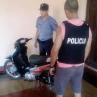 Recuperaron una moto nueva robada en Santo Pipó