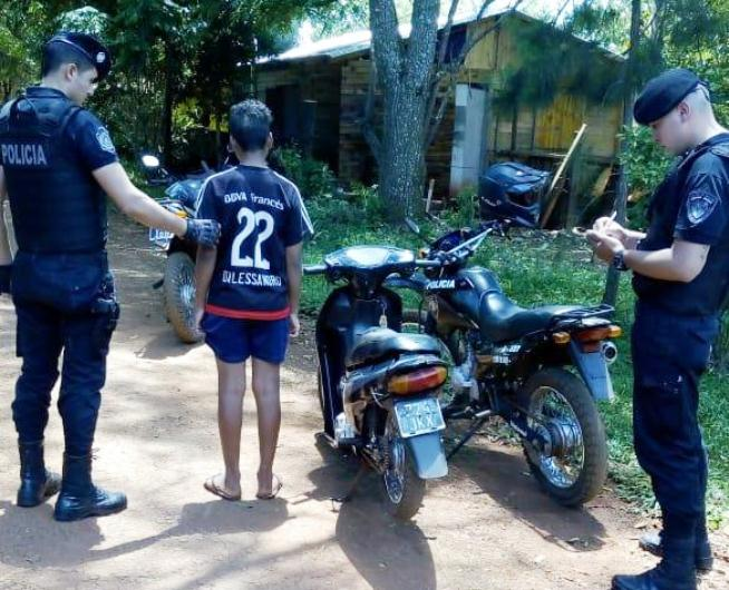 Adolescente de 14 años conducía una moto robada enseptiembre