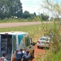 Motociclista fue chocada y abandonada en la ruta 14