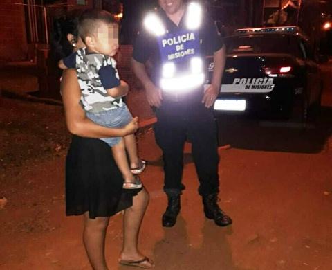 La Policía encontró y resguardó a un niño perdido en VillaBarreyro