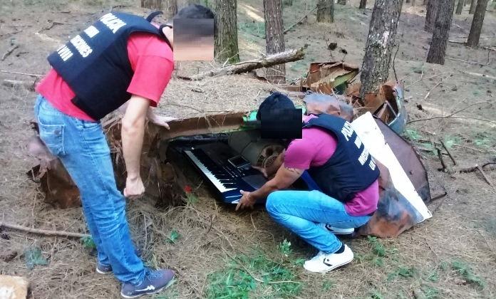 Encontraron un órgano eléctrico y un secarropas robados ocultos en unpinar