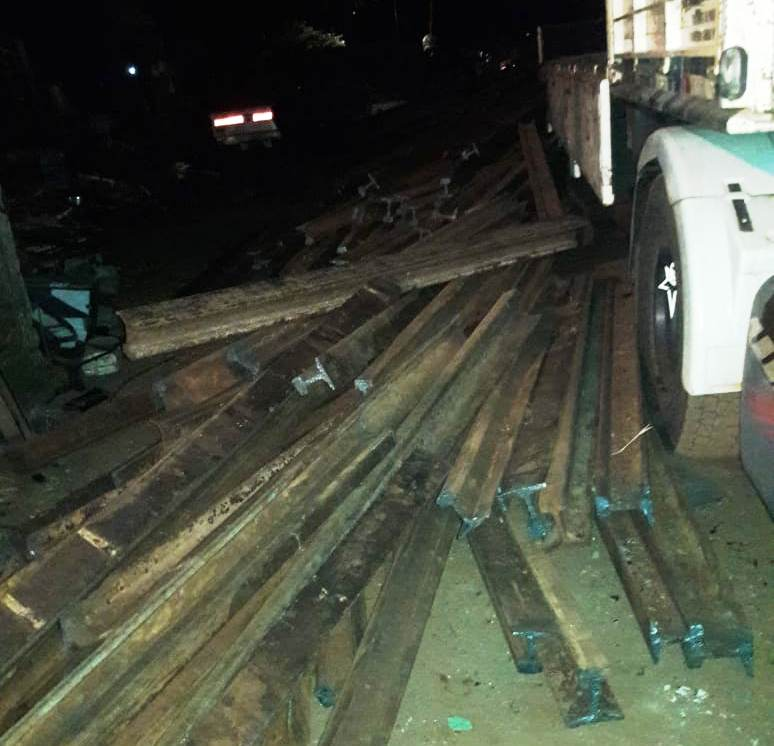 24 toneladas de rieles del tren fueron robados en SanJosé