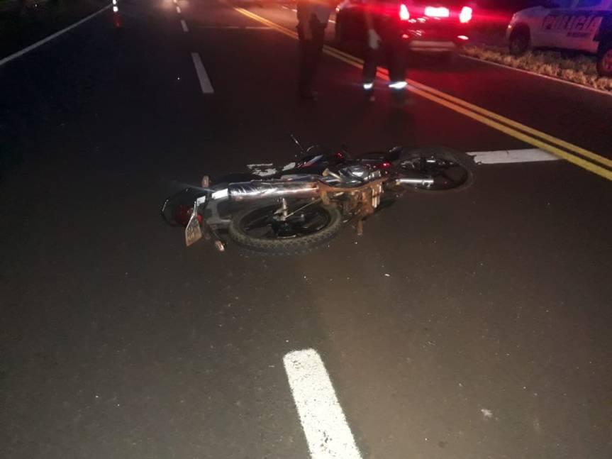 Motociclista despistó y murió en ruta12