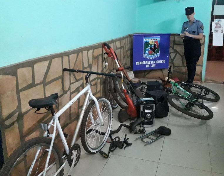 Desmantelan aguantadero de bicicletas y otros elementosrobados